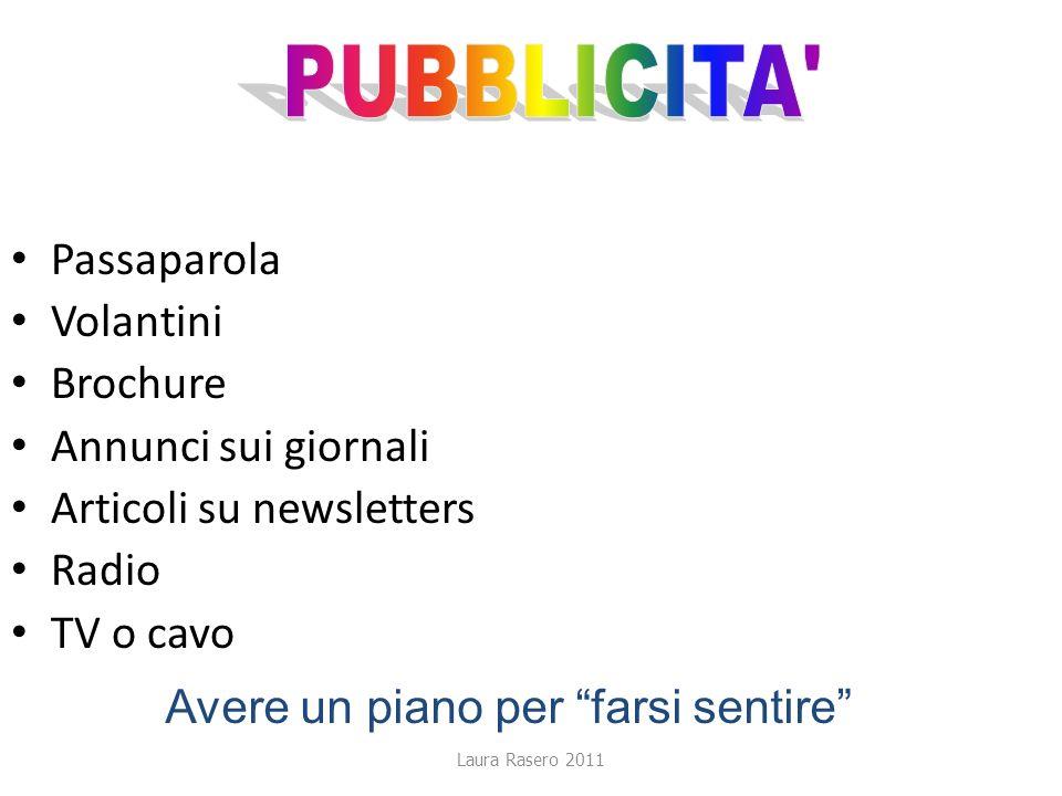 PUBBLICITA Passaparola Volantini Brochure Annunci sui giornali