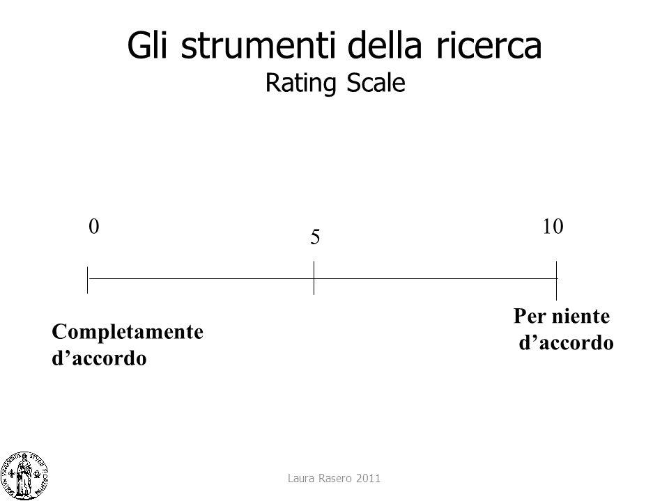 Gli strumenti della ricerca Rating Scale