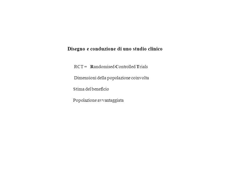 Disegno e conduzione di uno studio clinico