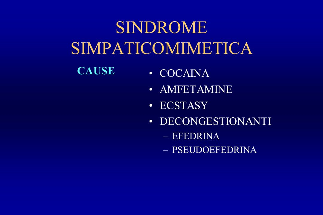 SINDROME SIMPATICOMIMETICA