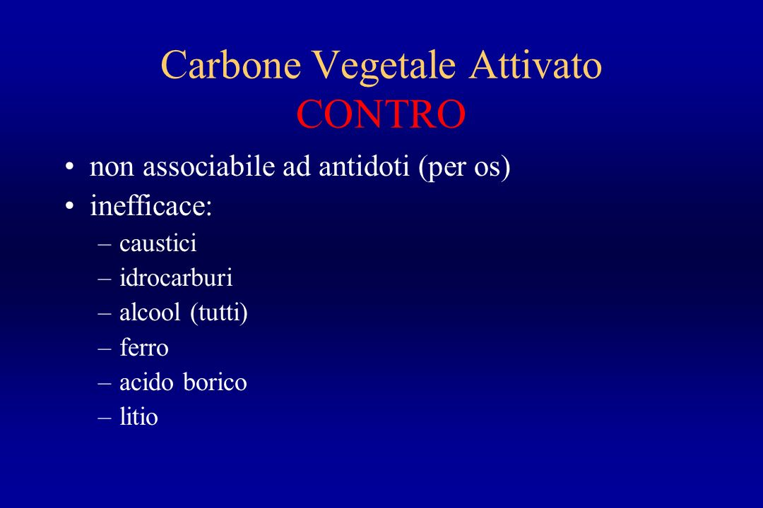 Carbone Vegetale Attivato CONTRO
