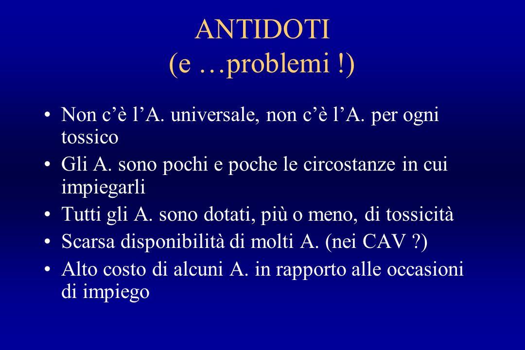 ANTIDOTI (e …problemi !)