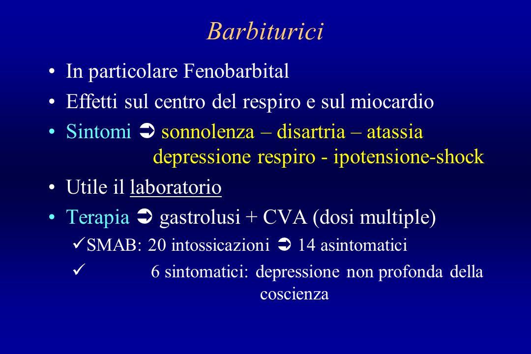 Barbiturici In particolare Fenobarbital