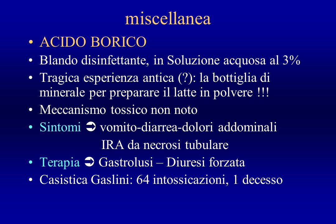 miscellanea ACIDO BORICO
