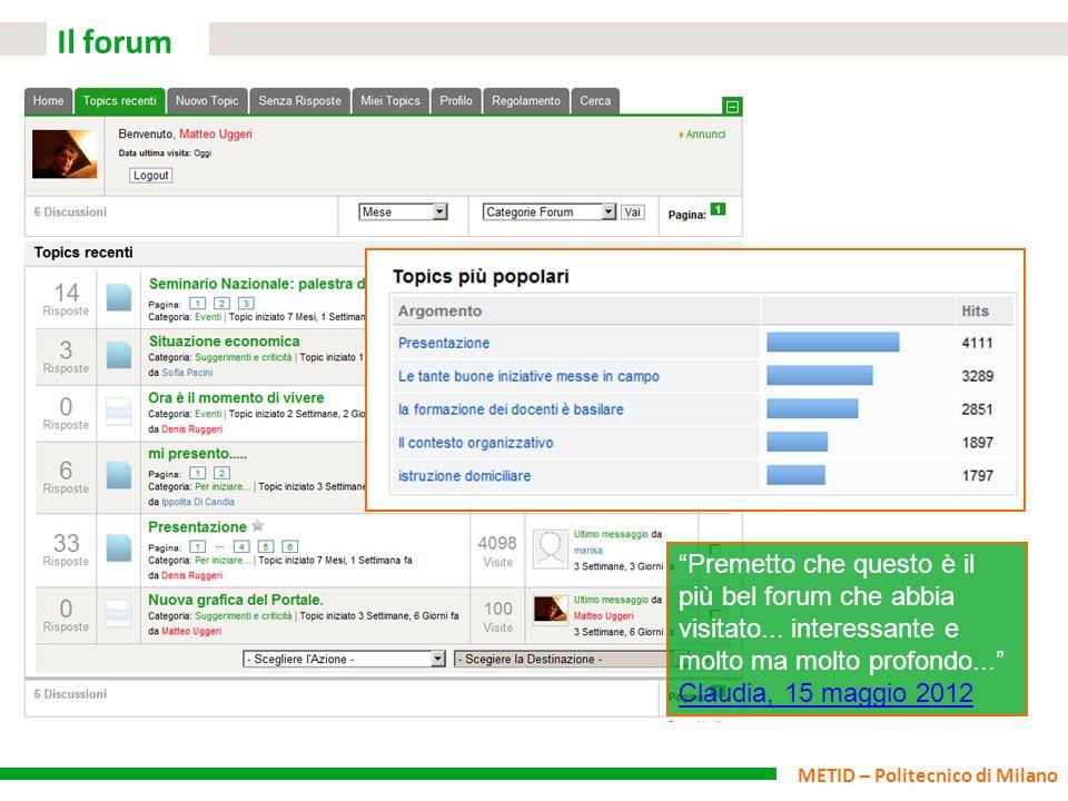 Il forum Premetto che questo è il più bel forum che abbia visitato...