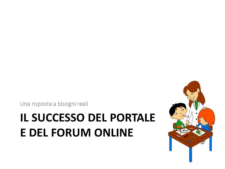 Il successo del Portale e del forum online