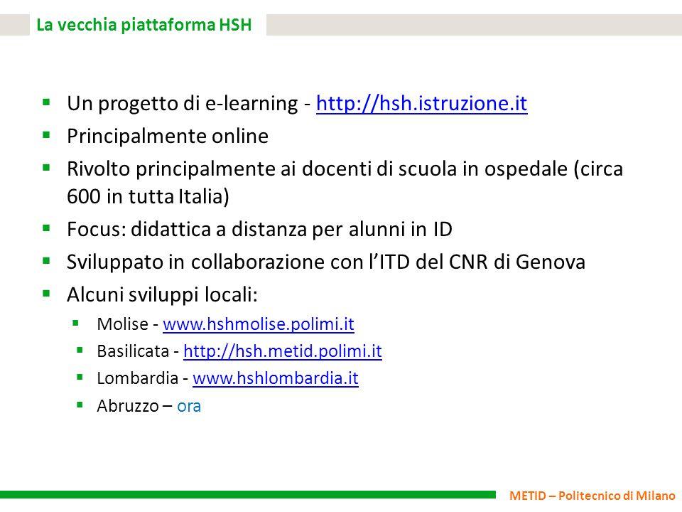 La vecchia piattaforma HSH