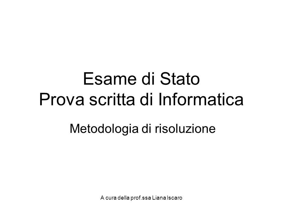 Esame di Stato Prova scritta di Informatica