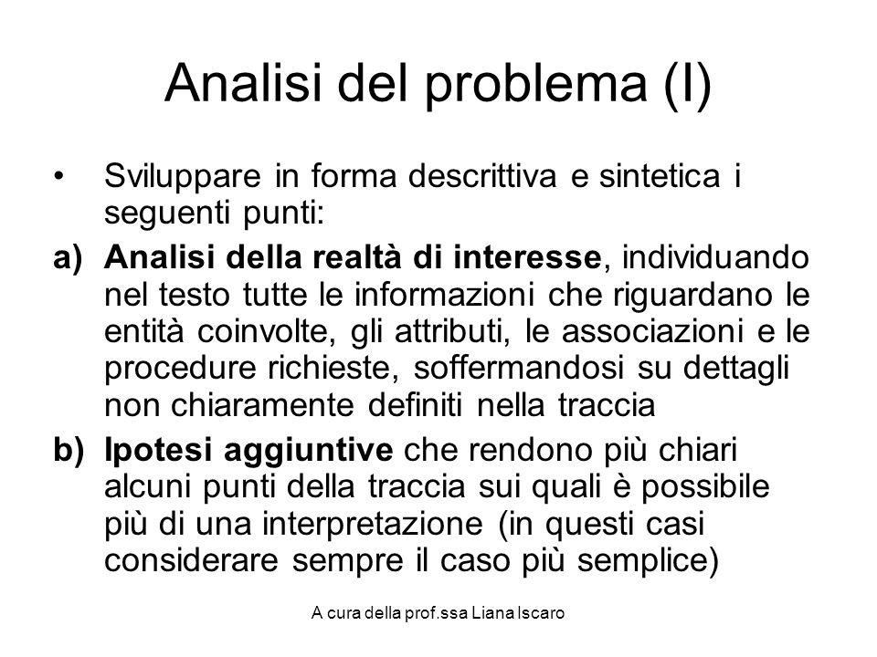 Analisi del problema (I)