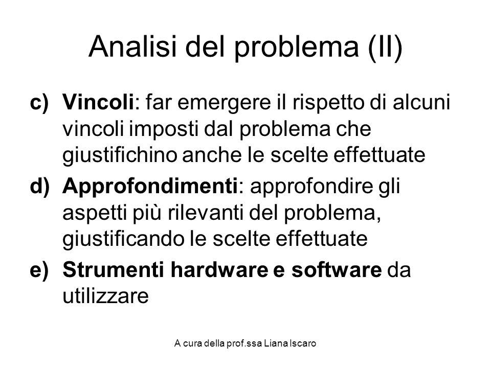 Analisi del problema (II)