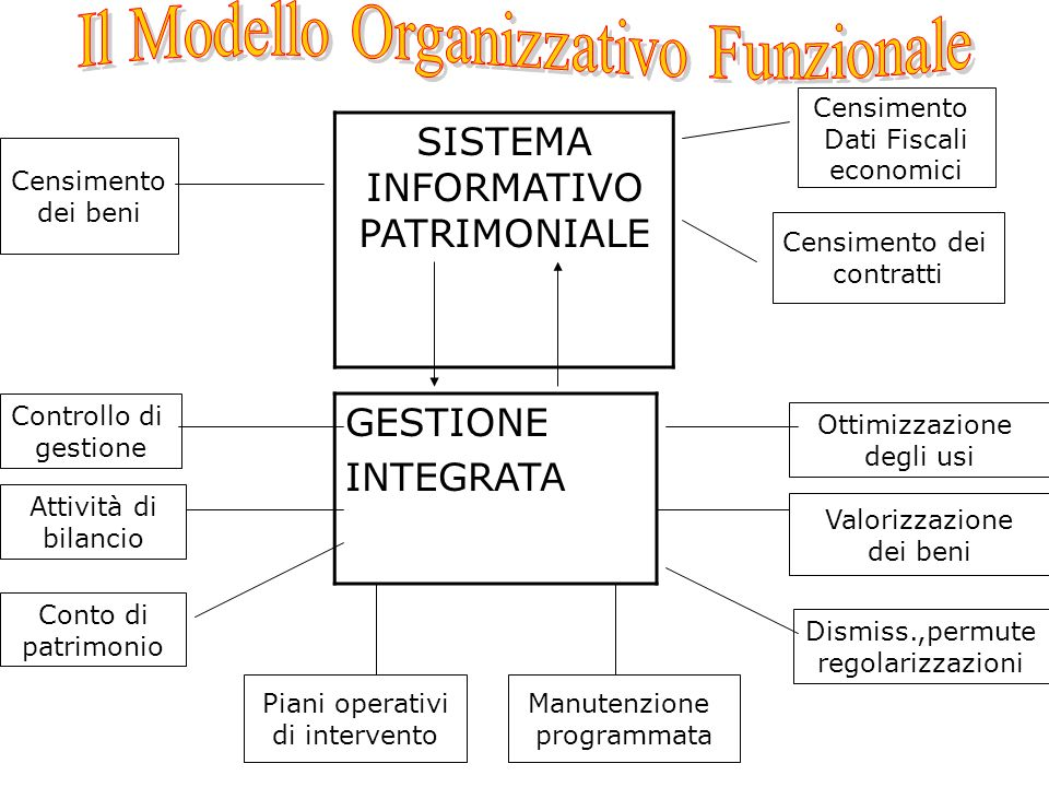 Il Modello Organizzativo Funzionale