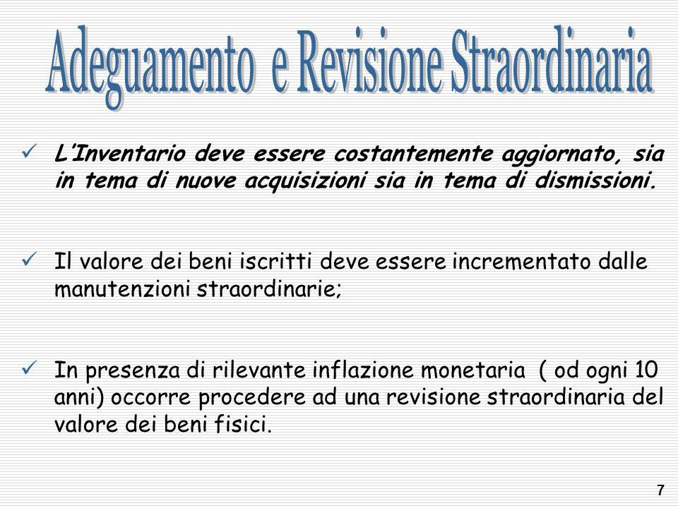 Adeguamento e Revisione Straordinaria