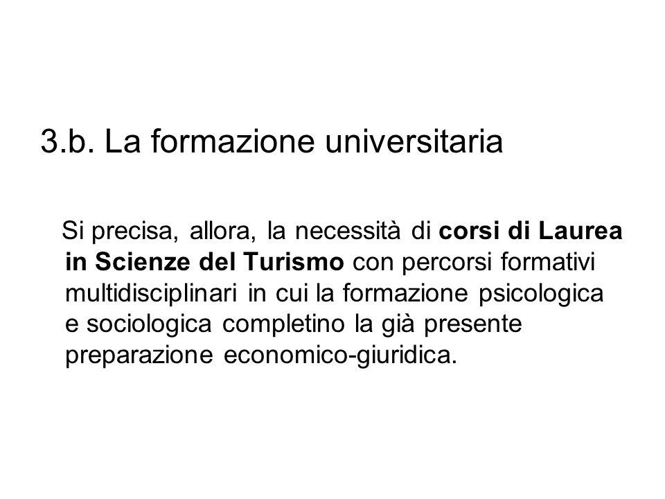 3.b. La formazione universitaria