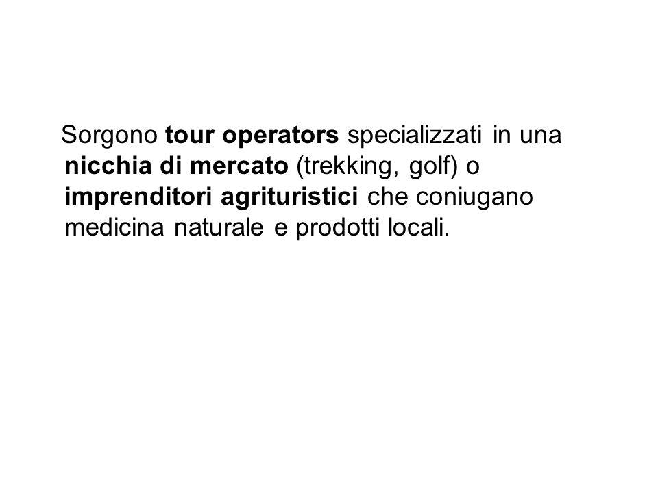 Sorgono tour operators specializzati in una nicchia di mercato (trekking, golf) o imprenditori agrituristici che coniugano medicina naturale e prodotti locali.