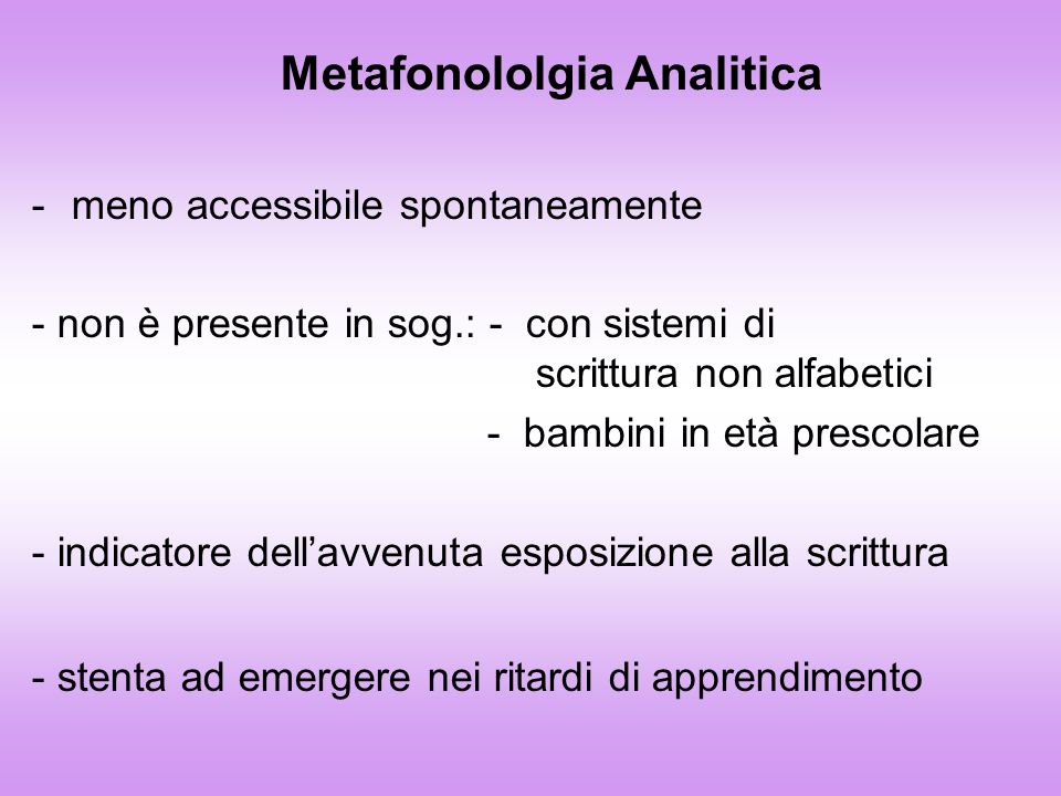 Metafonololgia Analitica