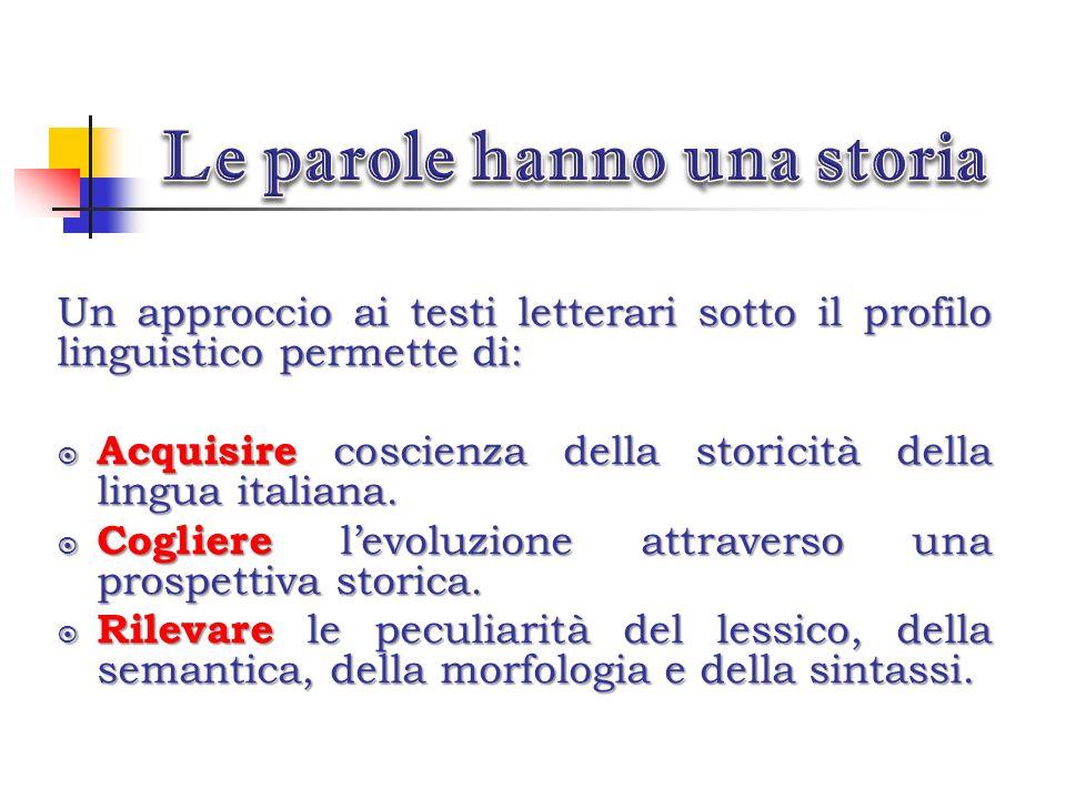 Le parole hanno una storia
