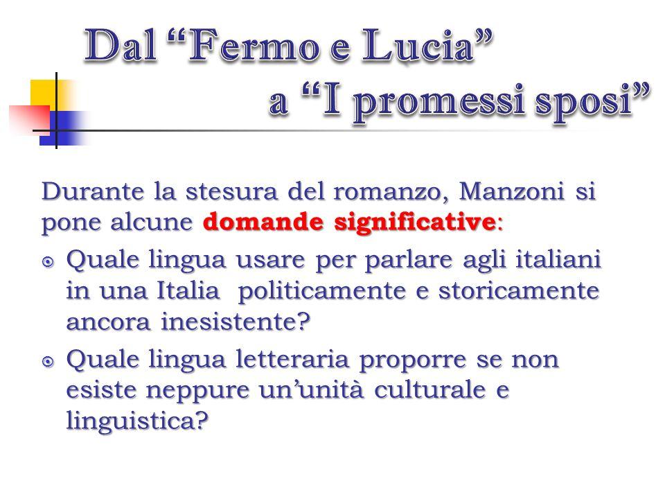 Dal Fermo e Lucia a I promessi sposi
