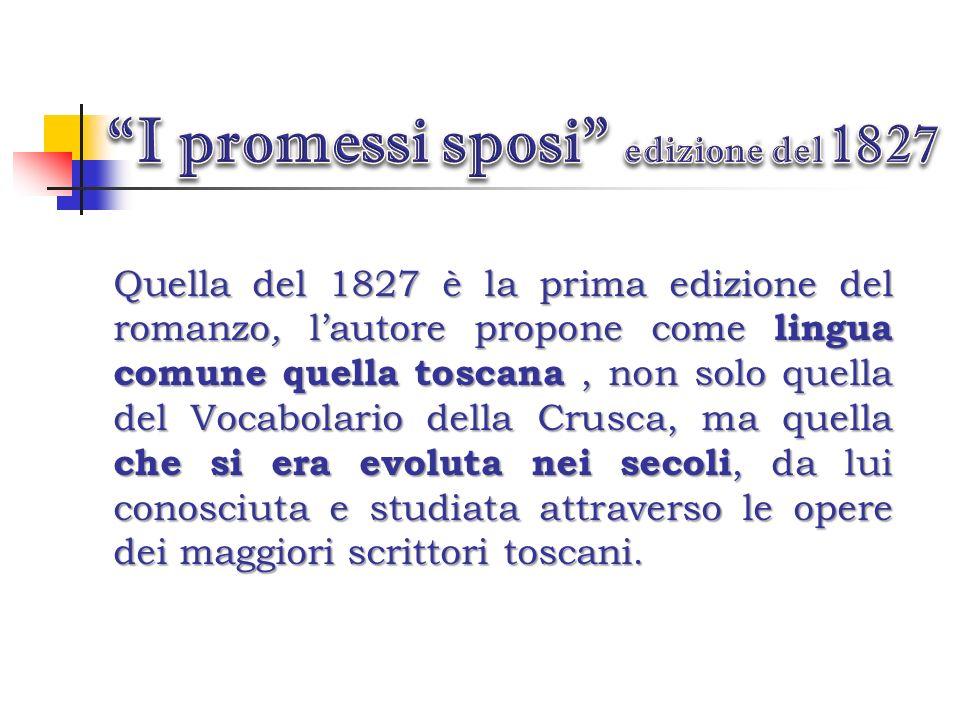 I promessi sposi edizione del 1827