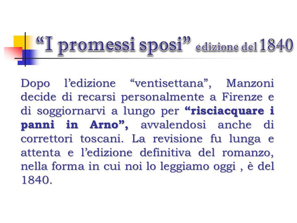 I promessi sposi edizione del 1840