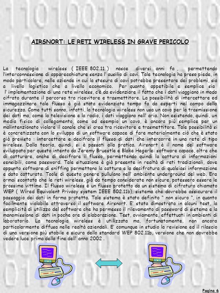 AIRSNORT: LE RETI WIRELESS IN GRAVE PERICOLO