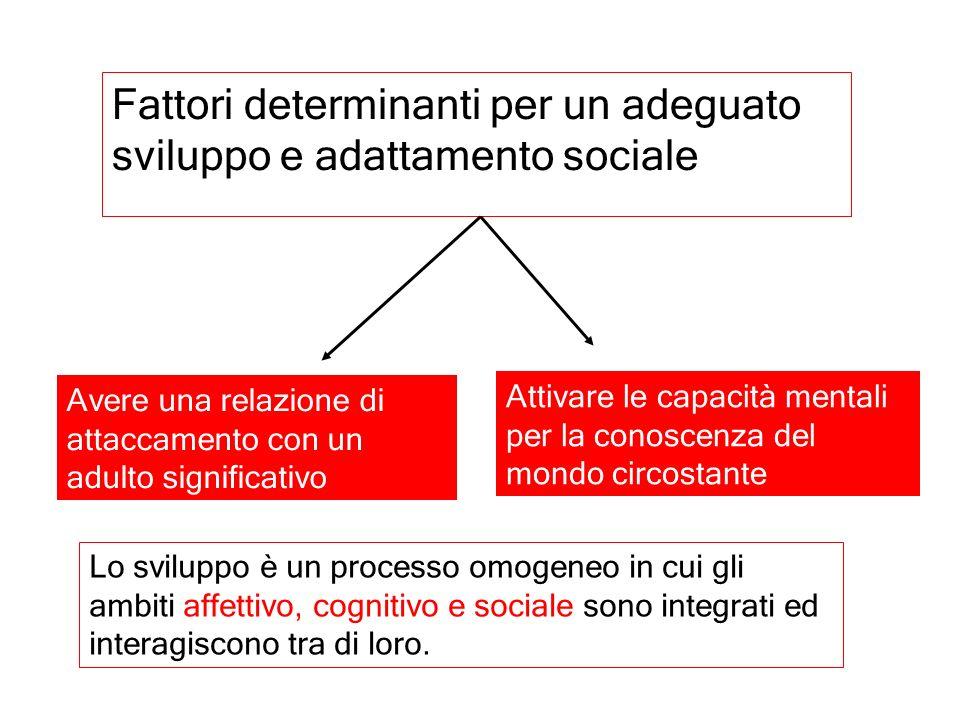 Fattori determinanti per un adeguato sviluppo e adattamento sociale