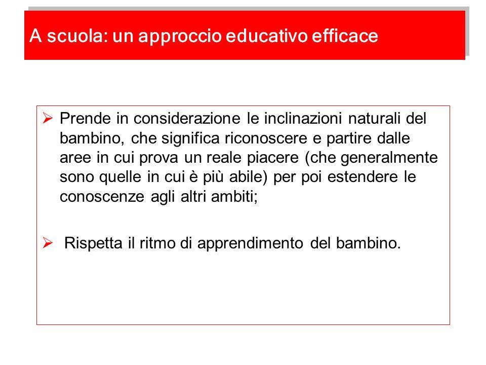 A scuola: un approccio educativo efficace