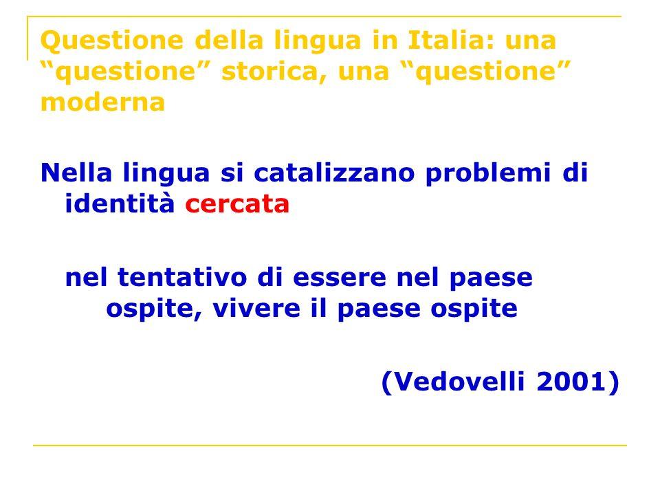 Questione della lingua in Italia: una questione storica, una questione moderna