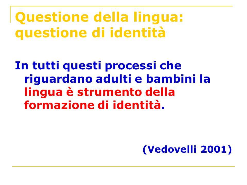 Questione della lingua: questione di identità