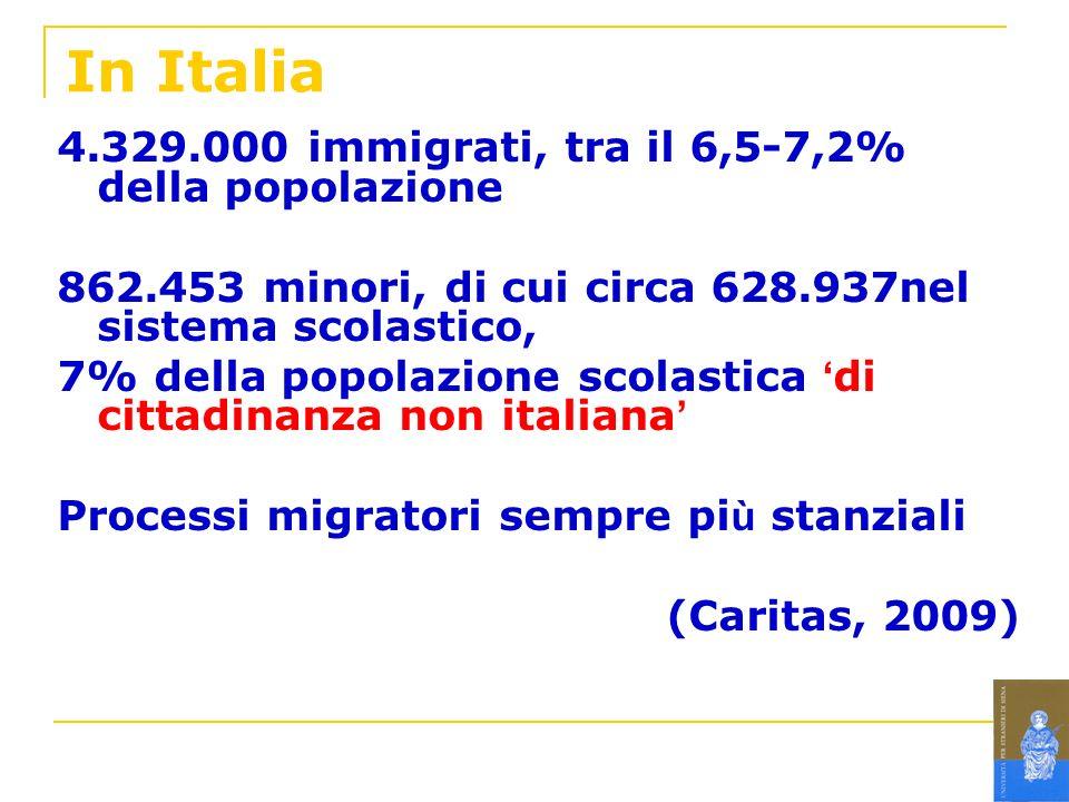 In Italia 4.329.000 immigrati, tra il 6,5-7,2% della popolazione