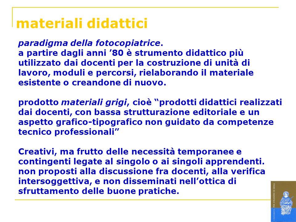 materiali didattici paradigma della fotocopiatrice.