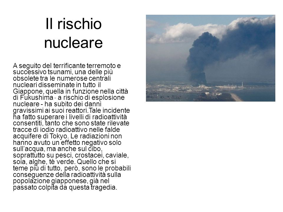 Il rischio nucleare