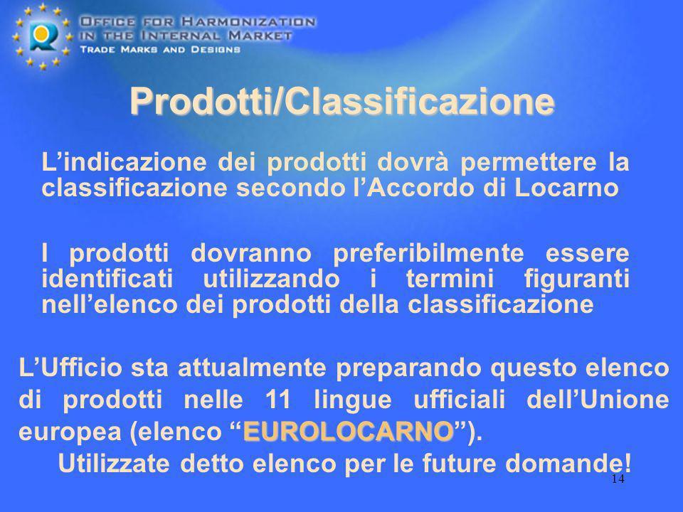 Prodotti/Classificazione
