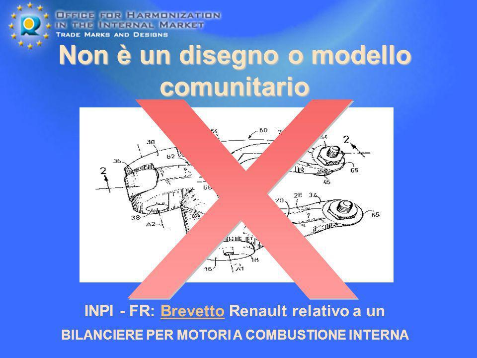 Non è un disegno o modello comunitario