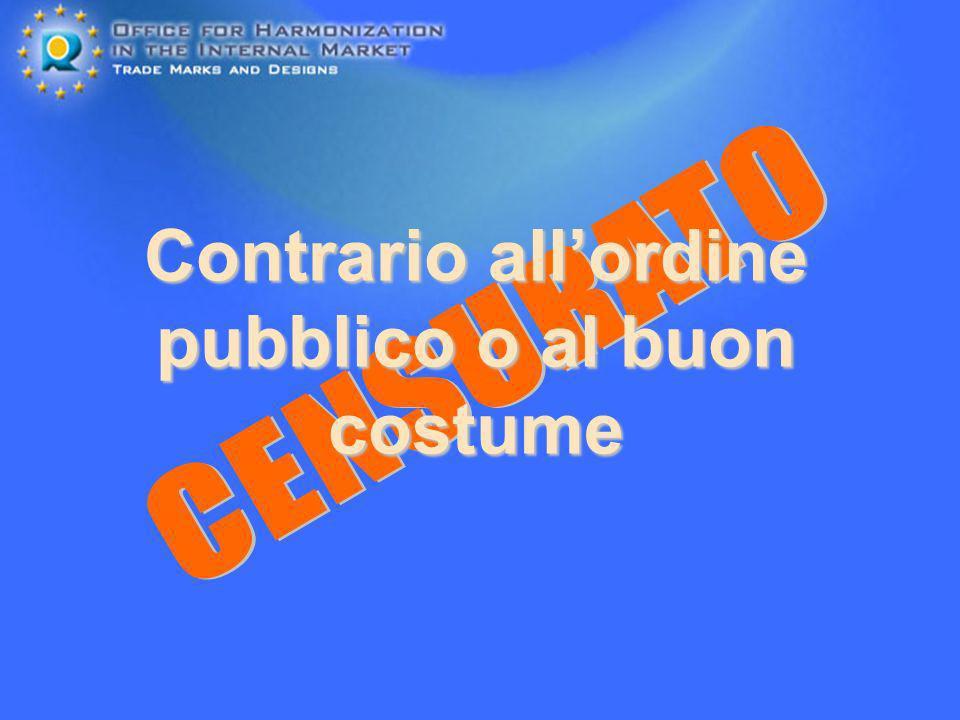 Contrario all'ordine pubblico o al buon costume