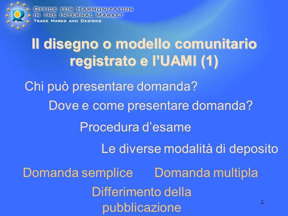 Il disegno o modello comunitario registrato e l'UAMI (1)