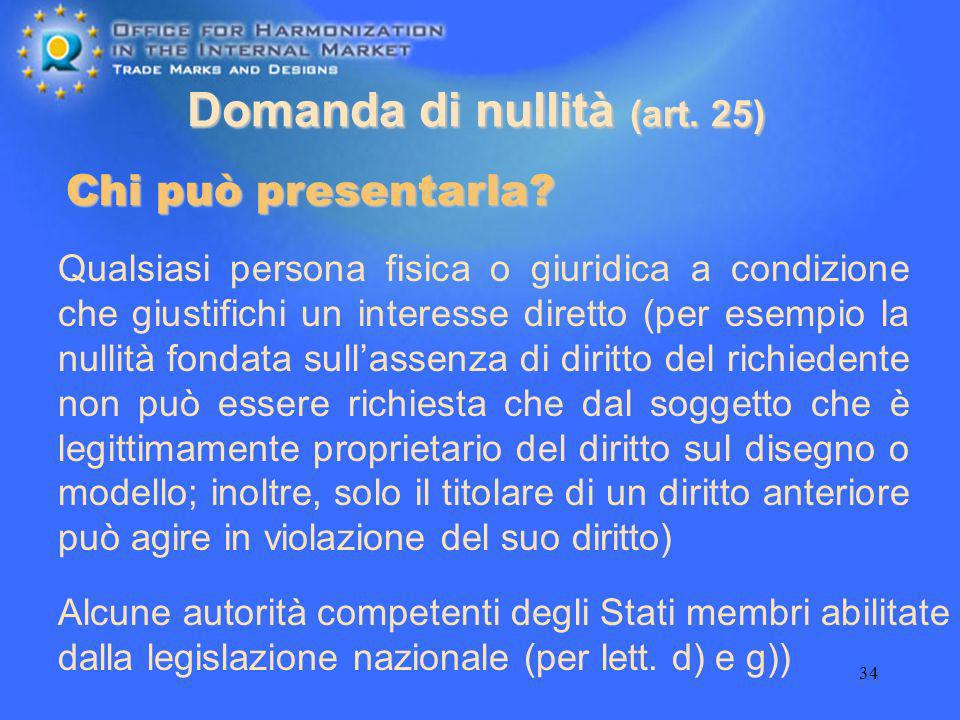 Domanda di nullità (art. 25)