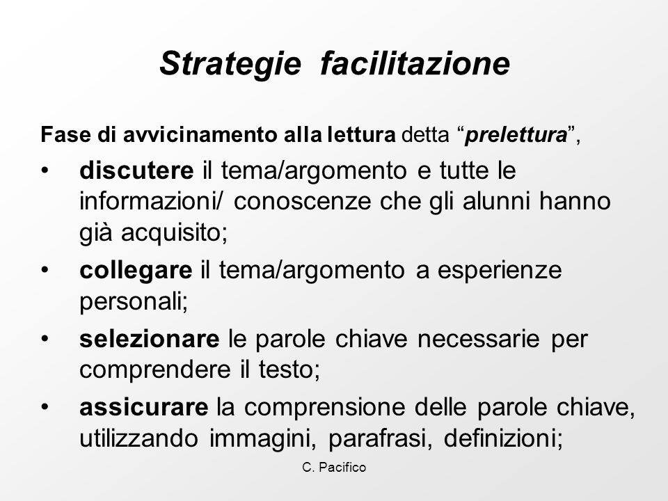 Strategie facilitazione