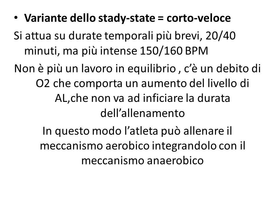 Variante dello stady-state = corto-veloce
