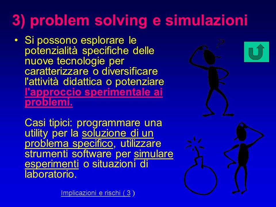 3) problem solving e simulazioni