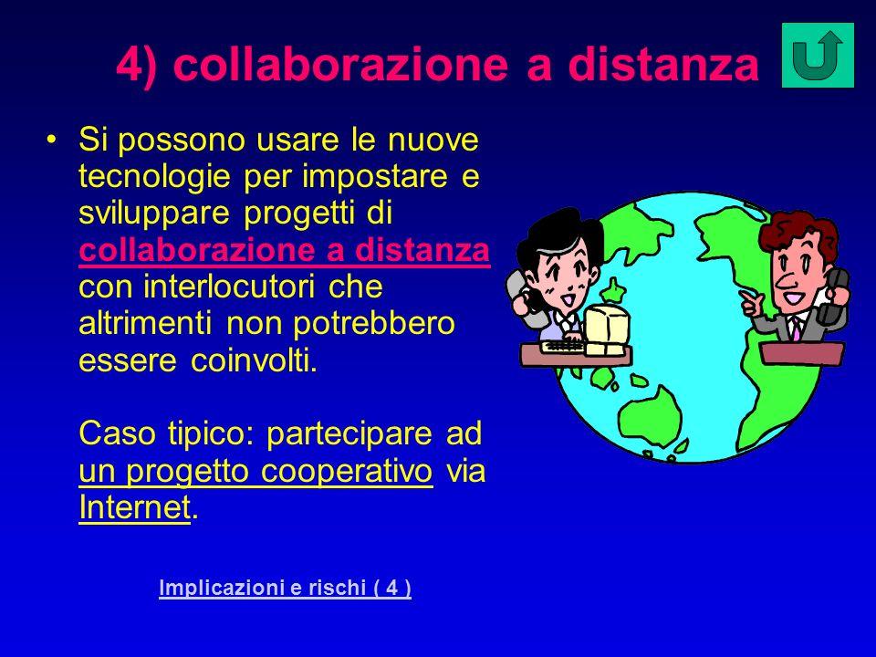 4) collaborazione a distanza