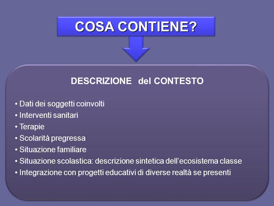 DESCRIZIONE del CONTESTO