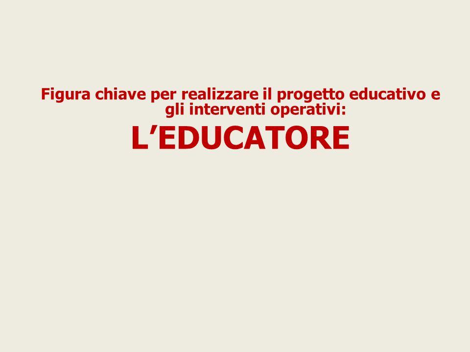 Figura chiave per realizzare il progetto educativo e gli interventi operativi: