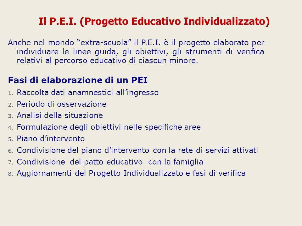 Il P.E.I. (Progetto Educativo Individualizzato)
