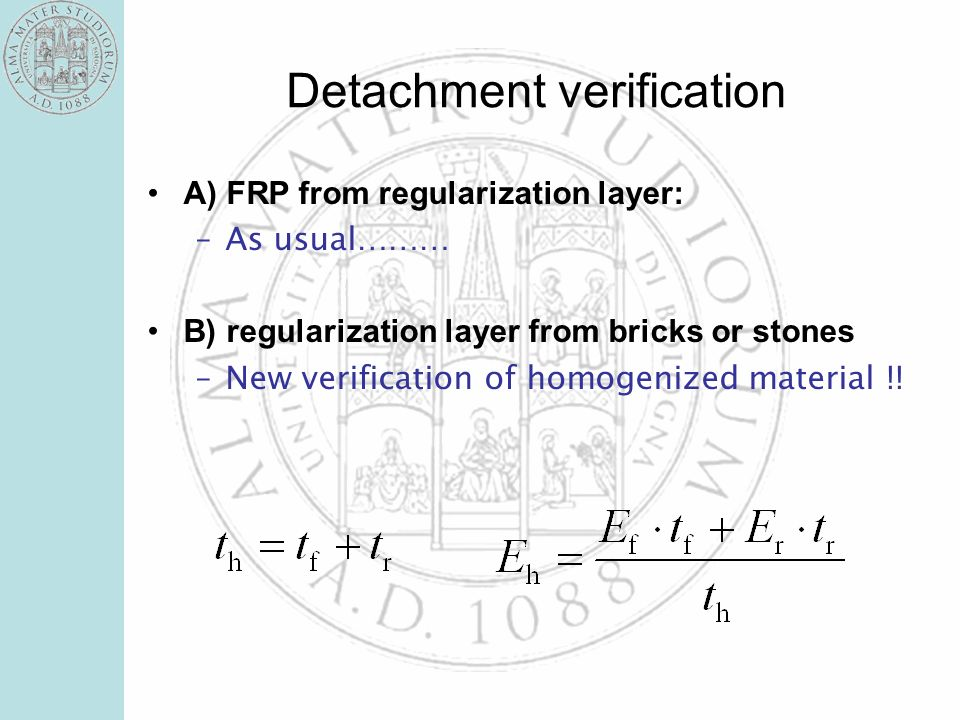 Detachment verification