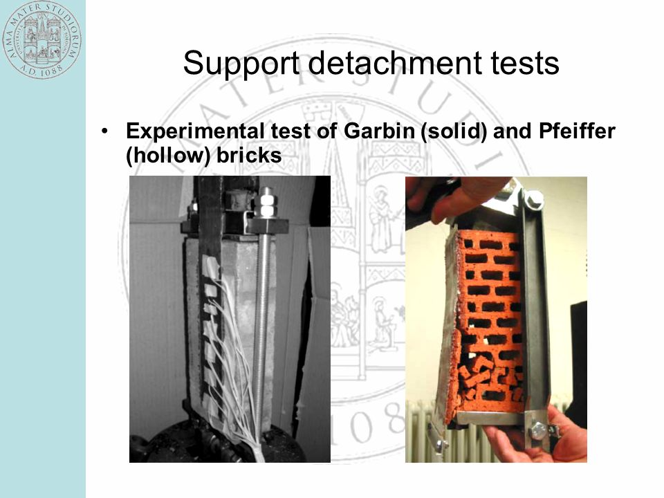 Support detachment tests