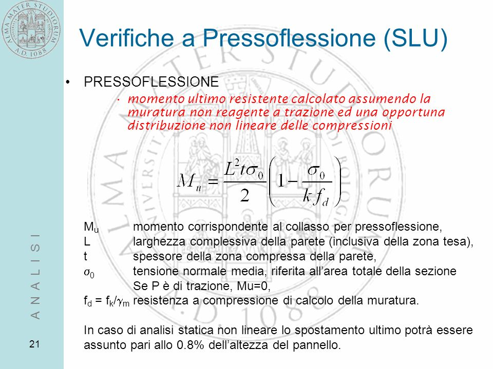 Verifiche a Pressoflessione (SLU)