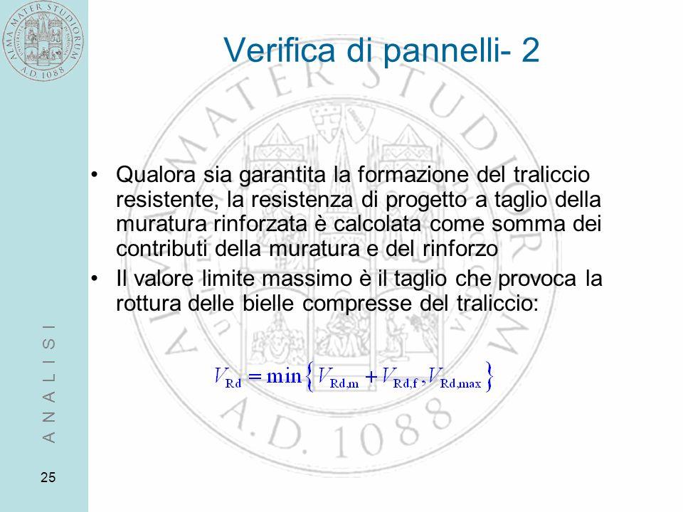 Verifica di pannelli- 2