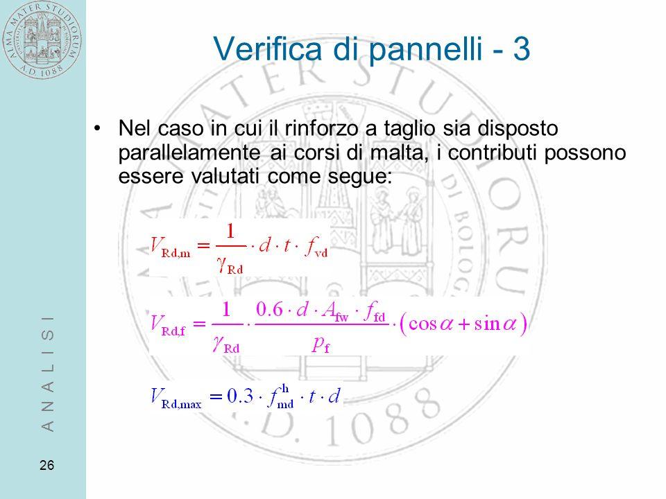 Verifica di pannelli - 3