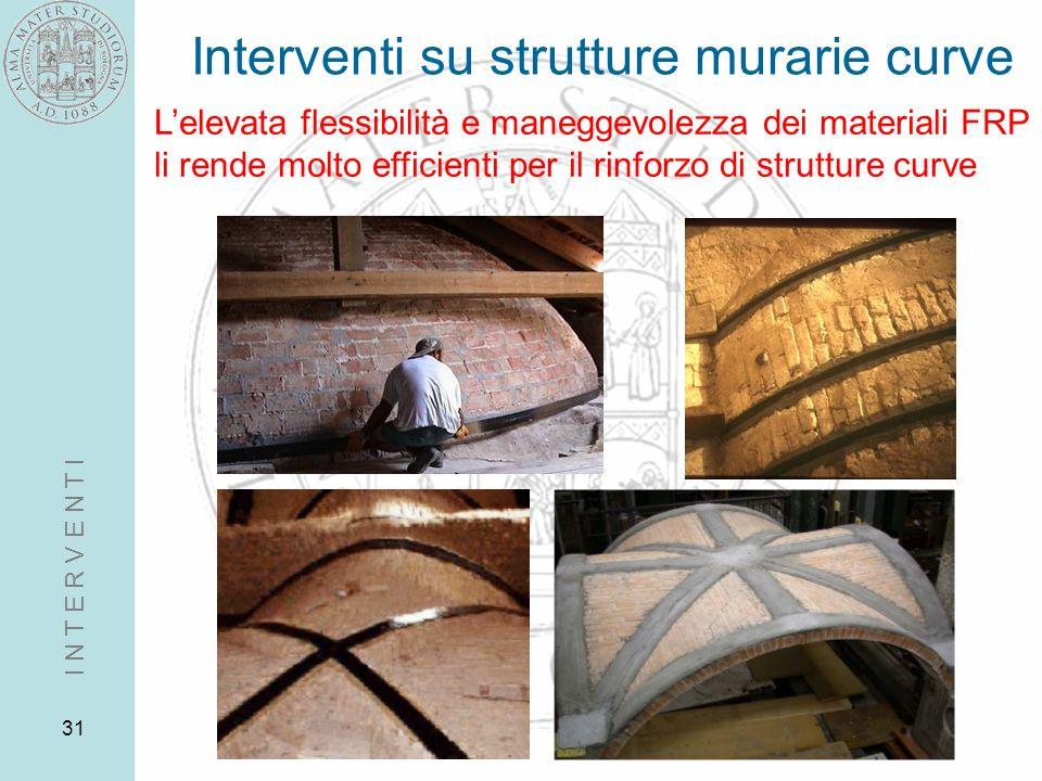 Interventi su strutture murarie curve