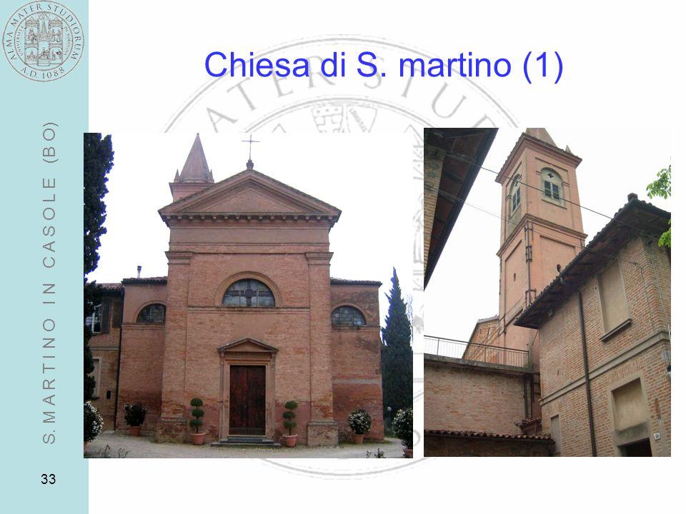 Chiesa di S. martino (1) S. M A R T I N O I N C A S O L E (B O)